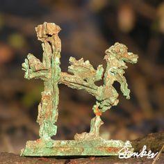 Miniature sculpture in bronze by Saerker Sorensen