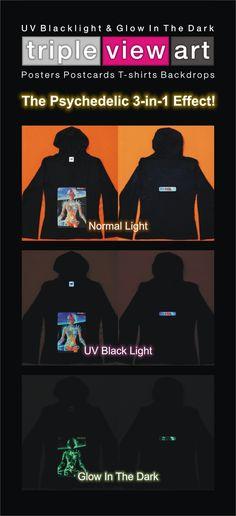 """B.I.O.mechanoid"" UV-Blacklight Fluorescent & Glow-In-The-Dark Phosphorescent Psychedelic Art Womens Hoodie, £28 in Tripleview Art Web Shop.  #psychedelic #psy #trance #psytrance #goatrance #rave #trippy #hippie #esoteric #mystic #spiritual #visionary #symbolism #UV #blacklight #fluorescent #fluoro #fluo #neon #glow #glowinthedark #phosphorescent #luminescent #art #hoodie #transhuman #biomechanoid #cyborg #sciencefiction #scifi #cyberpunk"