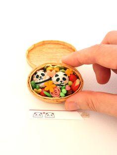 Miniature Panda Bento by Nyagoringorin
