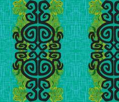 Kauai Riviera in blue ciracao fabric by sophista-tiki on Spoonflower - custom fabric