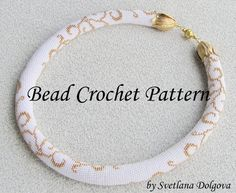 Pattern for bead crochet necklace Gold monogram by DolgovaSvetlana, $9.00