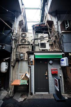 Fluorescent Black / Marc Scott-West - hiromitsu: wireville by Poagao. Cyberpunk City, Urban Photography, Street Photography, City Aesthetic, Matte Painting, Slums, Environment Design, Urban Landscape, Architecture