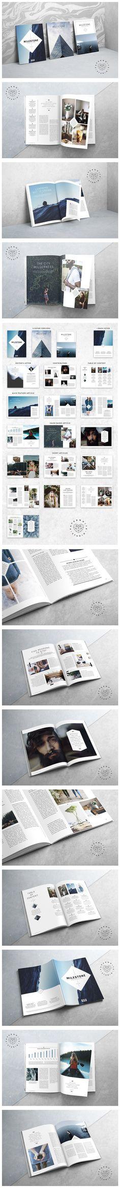 MILESTONE Magazine. Magazine Templates
