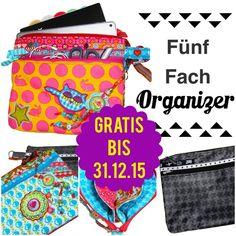 Fünf-Fach-Organizer, Kreativ-Ebook - farbenmix Online-Shop - Schnittmuster, Anleitungen zum Nähen