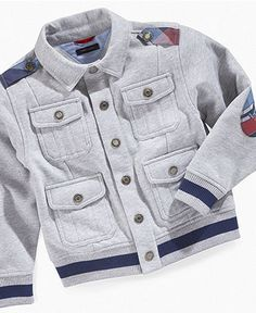 Tommy Hilfiger Kids Jacket, Little Boys Victor Snap-Front Jacket - Kids Boys 2-7 - Macy's