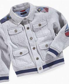 Tommy Hilfiger Kids Jacket, Little Boys Victor Snap-Front Jacket - Kids Boys 2-7 - Macy's