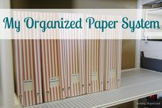 simply organized: Project Update: Organized Paper System