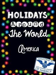 Christmas Around the World :  Enjoy teaching your kids about how American's celebrate the Holiday/Christmas season with this mini-book!
