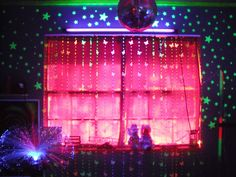 Sensory room! Window/mirror ball!