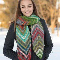 Classic Elite Yarns 9246 Diagonal Scarf PDF at WEBS | Yarn.com