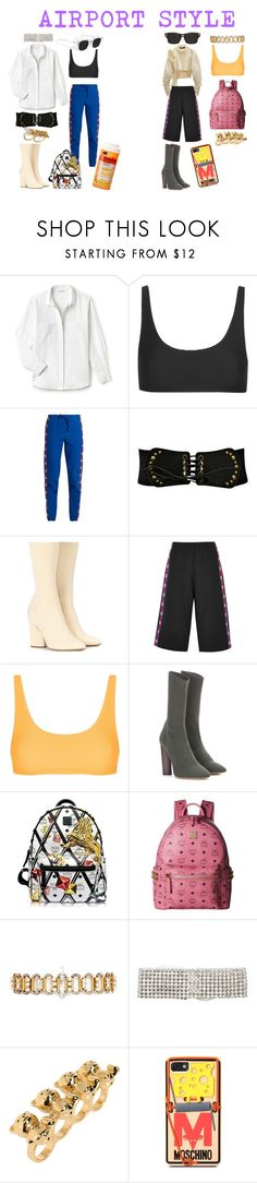 """j'adior"" by stavhalfon2013 on Polyvore featuring Lacoste, Topshop, Vetements, adidas Originals, MCM, Erickson Beamon, ERTH and Moschino"