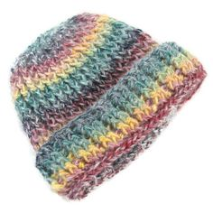 Crochet Baby Hat - Newborn to 3 months  - FREE SHIPPING Unisex Girl Boy Rainbow Colours 50/50 Wool Acrylic - Handmade in Ireland