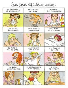 I actually understand some of these o. Spanish Posters, Spanish Phrases, Spanish Humor, Spanish 101, Live Love Life, Funny Phrases, Humor Grafico, Funny Love, Funny Cartoons