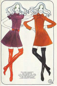 "Hettemarks dresses, 1 9 6 9, Scanned from the book ""O Livro da Mulher"", Reader's Digest."