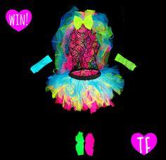 d2b3292e001 neon bride tutu set 80s hen party ideas by Tutu Factory Hens Night