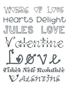 Valentine Fonts 2  from Alderberry Hill by Alderberry Hill