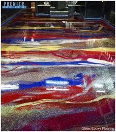 Epoxy Glitter Floor, columbus ohio, better than stained concrete!! restaurant floor, bar floor