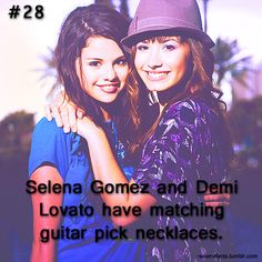 Aw.  (: Selena Gomez Facts, Guitar Pick Necklace, 100 Songs, Marie Gomez, Strong Girls, Fact Quotes, Delena, Demi Lovato, My Idol