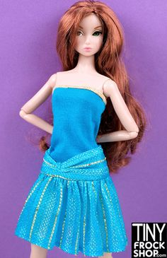 560ac697635 Barbie Glittery Knit Skirt or Dress - Tiny Frock Shop Knit Skirt