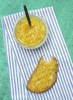 Jam van gele kiwi en mango
