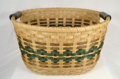 ***** Instant Download - Pattern Only ***** This pattern is for instructions to weave a large gathering basket with pottery handles. Detailed instruction that includes overlays and creating openings for pottery handles is included. You must be familiar with basic basket weaving techniques. The PDF pattern (in English) is available for download once payment has cleared. Price is for the pattern only and NOT FOR THE FINISHED BASKET. Skill level: Intermediate Approximate Dimensions of the… Big Basket, Round Basket, Basket Ideas, Sisal, Basket Weaving Patterns, Pine Needle Baskets, Woven Baskets, Basket Decoration, Weaving Techniques
