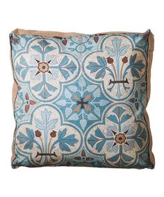 Look what I found on #zulily! Blue Nature French Pillow #zulilyfinds