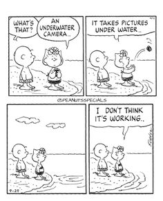 First Appearance: September 29th, 1999 #peanutsspecials #ps #pnts #schulz #charliebrown #sallybrown #underwater #camera #pictures #working www.peanutsspecials.com