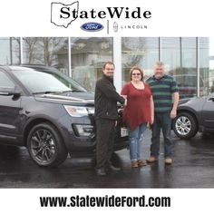 Gwen and Chris Overholt taking delivery of their new Ford Explorer from Logan Rupert. Thank you for your business!