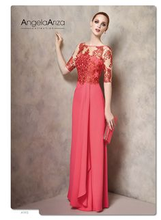 Angela Ariza, prêt à porter prom dresses, for godmothers, bridesmaids and guests. The economy is not at odds with elegance. Long Sleeve Evening Gowns, Evening Dresses, Bridal Dresses, Prom Dresses, Formal Dresses, Weeding Dress, Types Of Dresses, Groom Dress, Occasion Dresses