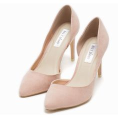 Nly Shoes Pump ($58) ❤ liked on Polyvore featuring shoes, pumps, heels, light pink, party shoes, womens-fashion, high heels footwear, breast pump, light pink high heel shoes and pointy toe high heel pumps