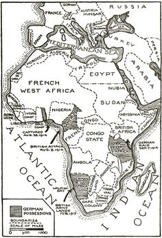 "European powers carve up Africa. From 1881 right up until World War I, European countries competed to colonize as much African land as they could. Britain and France seized the largest parcels of territory during this so-called ""scramble for Africa. Modern World History, World History Teaching, World History Lessons, Native American History, African History, All About Africa, Africa Map, South Africa, African Diaspora"