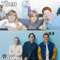 Riverdale characters Betty, Jughead,and Archie then and now. Memes Riverdale, Bughead Riverdale, Riverdale Funny, Stupid Funny, Funny Texts, Hilarious, Riverdale Betty And Jughead, Zack Y Cody, Cheryl Blossom Riverdale