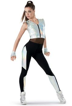 Weissman™ | Hologram Neoprene Vest and Leggings