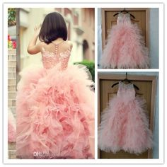 Find More Flower Girl Dresses Information about 2015 New Flower Girls' Dresses Tulle With Ruffles Layered Applique Lace Floor Length Ball Gown Girls Pageant Dresses AB53,High Quality dress up modern princess,China dresses brand Suppliers, Cheap dress salsa from Suzhou Romantic Wedding Dress Co. Ltd on Aliexpress.com