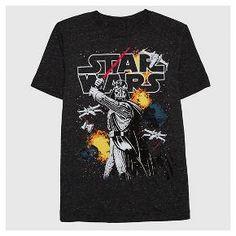 Boys' Star Wars T-Shirt - Black Speckle Snow : Target