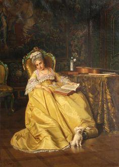 A Restful Moment, 1871 by Leonardo Gasser (Italian 1831- ?)