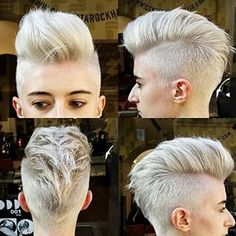Haarschnitt Pixie Short Faux Hawk 23 Ideen Para when cacheadas at the crespas, dormir sem Edgy Short Haircuts, Girl Haircuts, Haircut Short, Medium Hair Cuts, Short Hair Cuts, Short Hair Styles, Short Faux Hawk, Girl Faux Hawk, Pixie Faux Hawk