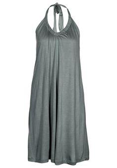 like the neckline and halter strap - dark grey neckholder dress