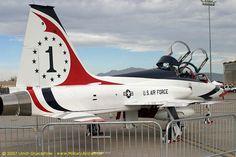 Northrup T-38 Talon - Thunderbirds, United States Air Force (USAF), United States.