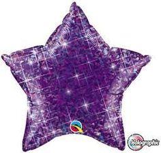 "20"" Jewel Purple Star -Non-Pkg foil balloon"