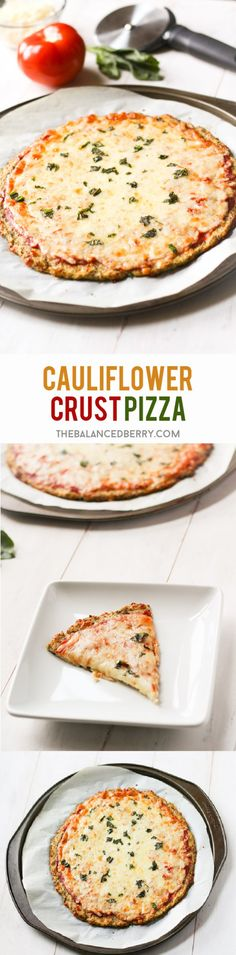 Super-simple cauliflower pizza crust recipe. Gluten and grain free! via thebalancedberry.com