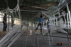 Newer story Older story Tape Installation by Numen/For Use  at DMY Berlin