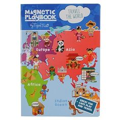Travel The World Magnetic Playbook| $19.95 #playbook #magnetic #kids #toddler #sweetcreations