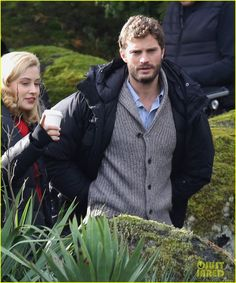 Filming The 9th Life of Louis Drax on Friday afternoon (November 7) in Vancouver, Canada.