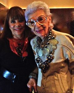 Brenda Lee and Iris Apfel
