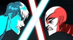 Sith Assassin Asajj Ventress vs Anakin Skywalker