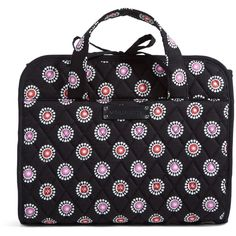Vera Bradley Hanging Travel Organizer in Parisian Pom Poms ($48) ❤ liked on Polyvore featuring home, home decor, office accessories, parisian pom poms, sale, travel, vera bradley, luggage organizer, compartment organizer and vera bradley organizer