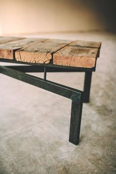 Gooseneck X coffee table, bench, rustic modern. $775.00, via Etsy.