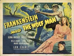 Lobby Card from the film Frankenstein Meets The Wolf Man
