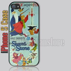 The Sword In The Stone Vintage Disney Custom iPhone 5 Case Cover